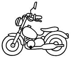 Bébé motard - Coloriage moto - 04