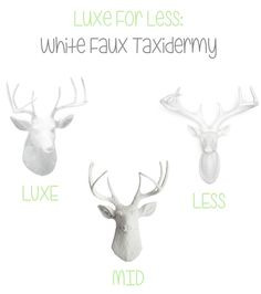White Faux Taxidermy Luxe For Less - 204 Park #Luxe ForLess