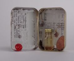 This is the first post in a series about how to make assemblage sculpture. Assemblage sculpture is like collage, only Assemblage sculpture, or mixed-media Mint Tins, Mixed Media Sculpture, Luther, Mixed Media Art, Mason Jars, Perfume Bottles, Container, Box, Projects