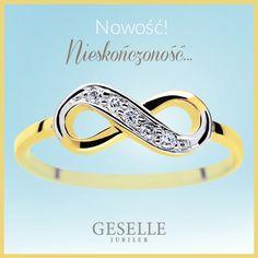 Najnowsza kolekcja złotej biżuterii NIESKOŃCZONOŚĆ. Symbol infinity na pierścionkach, kolczykach oraz naszyjnikach. Bangles, Bracelets, Wedding Bands, Engagement Rings, Jewelry, Enagement Rings, Wedding Rings, Jewlery, Jewerly