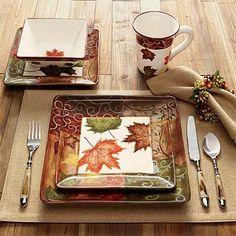 Dinner Plate Sets - Foliage China