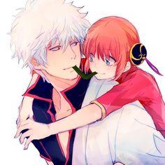 Gintoki et Kagura Anime Couples, Cute Couples, Gintama Wallpaper, Anime Lock Screen, Okikagu, Love Games, Aesthetic Drawing, Anime Love, Manga Anime