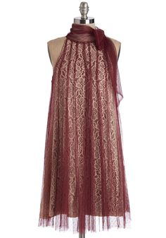 Time and Grace Dress in Merlot, #ModCloth