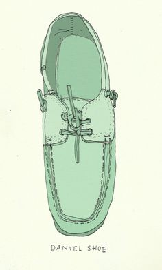 #illustration #shoe #boatshoe #zapato #mint #green #sailor