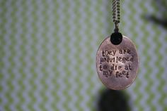 Custom Antique Brass Quote Necklace League of by TeamNeville, $14.25