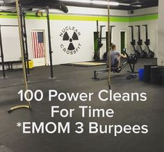Power Cleans WOD