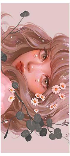 Pretty Art, Cute Art, Digital Art Girl, Digital Art Anime, Digital Portrait, Digital Art Tutorial, Cartoon Art Styles, Anime Art Girl, Aesthetic Art