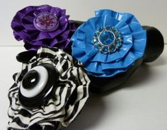 Duct Tape Button Flowers