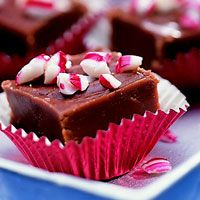 Fanciful Peppermint Fudge Mint flavor infuses this creamy, easy holiday fudge. If you like, use two cups mint-flavor semi-sweet chocolate pieces instead of the chocolate pieces and extract. Christmas Sweets, Holiday Baking, Christmas Desserts, Christmas Baking, Christmas Recipes, Christmas Candy, Magical Christmas, Christmas Traditions, Christmas Presents