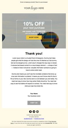 HTML Email RSS Mailchimp Newsletter Template Just Change Your Logo - Mailchimp template code