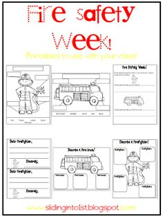 Fire Safety Week activities! 6 worksheet pack