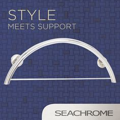 Our Half Moon Bay Curved Grab Bar doubles as a towel bar for a multi-function, stylish and supportive option to suit all bathroom remodel needs. Aging In Place, Grab Bars, Bath Accessories, Bars For Home, Master Bath, Bathrooms, Towel, Moon, Suit