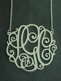 monogram necklace. yes.