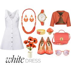 """""""White Dress Fashion Contest"""" by janet-palaggi on Polyvore"""