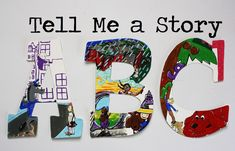 Items similar to Tell Me a Story Alphabet Wall Letters on Etsy