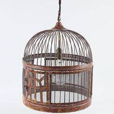 Birdcage light - for Lauren's Bird themed bedroom - shhh! it is a birthday surprise.