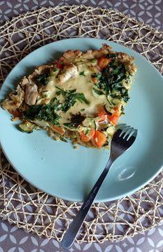 Tarte aux légumes sans gluten ni lactose