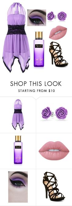 """purple bueaty"" by melaniebailey2003 ❤ liked on Polyvore featuring Bling Jewelry, Victoria's Secret, Lime Crime, Concrete Minerals and Wild Diva"