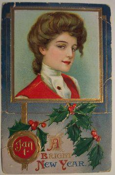 https://flic.kr/p/5PvT9N | Vintage New Years Postcard