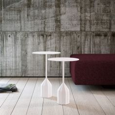 BURIN is a sculptural occasional table or bedside table made by Patricia Urquiola for Viccarbe and available in two levels. Its strong personality makes it very interesting for home and facilities. $555