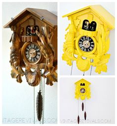 I have no desire to own a regular cuckoo clock, but I'll take a lemon yellow one any day!