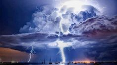 power of nature over Redcliffe, Queensland