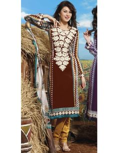 Winsome Dark Brown Suit Item code : SLAL8212B  http://www.bharatplaza.com/new-arrivals/salwar-kameez/winsome-dark-brown-suit-slal8212b.html https://www.facebook.com/bharatplazaportal https://twitter.com/bharat_plaza