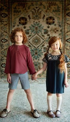 perfect little outfits and gorgeous rug too!