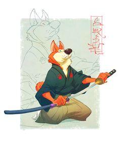 Samurai Dogs & Indian Warrior on Behance