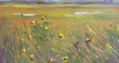 'Edge of the Marsh'            6x8       oil on panel         ©Karen Margulis  purchase painting here $125   Aerial Perspective!  When I u...