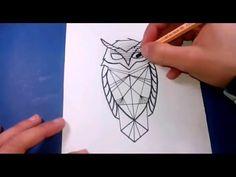 Como desenhar tattoo de coruja