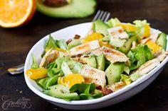 Chicken, Avocado and Orange Salad
