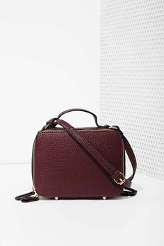 Boxed Out Vegan Leather Crossbody Bag