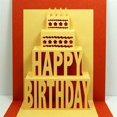 Capadia Designs: Happy Birthday Pop-up