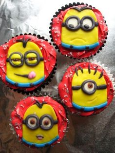 Despicable Me Birthday Cake and Cupcake Ideas