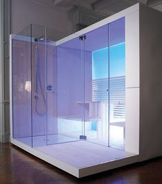 New Modern Design Sauna with Shower The new and amazing Inipi Bathroom from Duravit is a affected artist bathroom with shower. Duravit, a G. Design Sauna, Bath Design, Bathroom Furniture Design, Bathroom Interior, Ikea Furniture, Duravit, Spa Interior Design, Interior Decorating, Sauna Shower