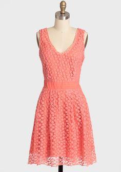 Meet Cute Lace Dress In Coral.Bridal Shower dress for Shannah Dress Attire, Dress Outfits, Fashion Dresses, Dress Up, Modern Vintage Dress, Vintage Dresses, Cute Lace Dresses, Pretty Dresses, Carnival Fashion