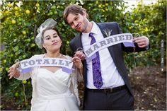 totally married wedding signs  Photographer:   Event Designer: | VIA #WEDDINGPINS.NET