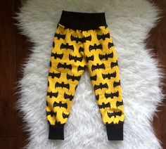 Batman pants/leggings. Cute baby clothes. Marysayssew Esty. Hey, I found this really awesome Etsy listing at https://www.etsy.com/listing/256327165/batman-pants-batman-leggings-batman-baby