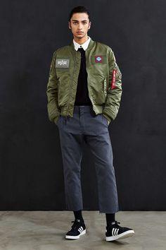 Alpha Industries MA-1 Flex Slim-Fit Jacket - Urban Outfitters