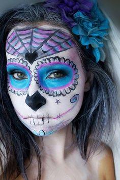 Sugar Skull #halloween #makeup #spooky - bellashoot.com  #sugarskull