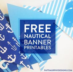 Free Nautical Banner Download, #free #printables #nautical #freebies