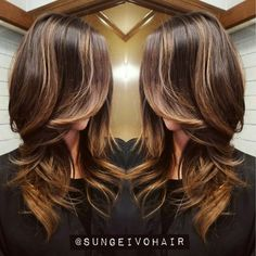Beautiful sunkissed transformation asian hair balayage