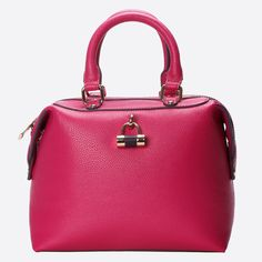 The Violet Colour Block is a daily carry-all with an elegant appeal created by its timeless box-like style design. Its features include a fully lined interior, gold metal trimmings, interior compartments and Violet's signature padlock feature. Colour Block, Color Blocking, Paul's Boutique, The Violet, S Signature, Travel Bags, Handbags, Lady, Metal