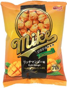 FritoLay Mike Pop Corn — Rich Mango Flavor $1.99 http://thingsfromjapan.net/fritolay-mike-pop-corn-rich-mango-flavor/ #Japanese fritolay #Japanese pop corn #Japanese snack