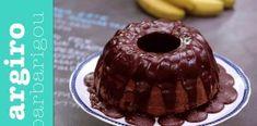 Αφράτο μυρωδάτο κέικ μπανάνα με κρέμα σοκολάτα Greek Recipes, Waffles, Biscuits, Muffins, Pudding, Cupcakes, Banana, Cookies, Breakfast