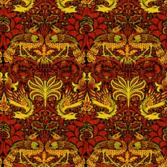 Available beginning 4/23/2017 2017 Morris Dragons fabric by amyvail on Spoonflower - custom fabric