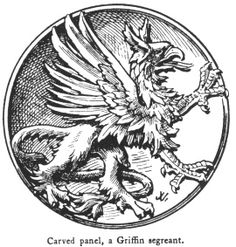 Fictitious and Symbolic Creatures in Art: Other Chimerical Creatures and Heraldic Beasts: The Griffin Griffon Tattoo, Pixel Art, Coat Of Arms, Mythical Creatures, Occult, Medieval, Sketches, Symbols, Artwork