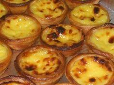 Receitas da Cozinha Internacional: Pastel de Belém / Pastel de Natas...cream pastries!