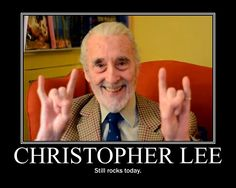 antikythera astronomy rip christopher lee whether you liked science fiction horror fantasy action whatever it was christopher lee made sure it was - Christopher Lee Metal Christmas